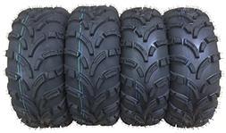 Set of 4 WANDA ATV/UTV Tires 26x9-12 Front & 26x10-12 Rear /