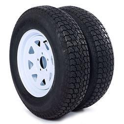 Set of 4 Trailer Tires & Rims ST205/75D15 F78-15 205/75-15 1