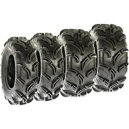 Set of 4 SunF Warrior AT Mud & Trail 26x9-12 Front & 26x11-1