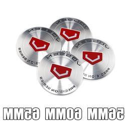 Silver Vossen 56mm 60mm 65mm Aluminum Wheel Center Cap Decal