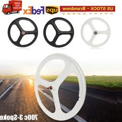 Single Speed Fixie Bicycle Wheel Set  Fixed Gear 700c Tri Sp