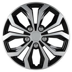 Spyder 16 Performance Wheel Cover, Two Tone Black/Silver Fin