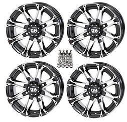 "STI HD3 ATV Wheels/Rims Machined 14"" Honda Foreman Rancher S"