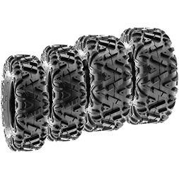 SunF Power.I ATV/UTV all-terrain Tires 25x8-12 Front & 25x10