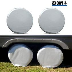 Tire Covers for RV Wheel ELUTO Set of 4 Motorhome Wheel Cove