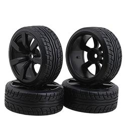 Tires With 7-spoke Wheel Rims For RC1:10 Nitro Car Flat Raci