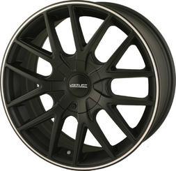 Touren TR60 16 Black Wheel / Rim 4x4.25 & 5x4.25 with a 42mm