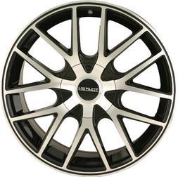Touren TR60 20 Machined Black Wheel / Rim 5x4.25 & 5x4.5 wit