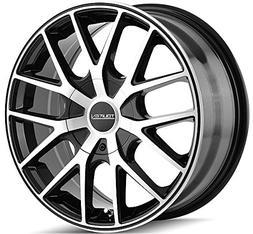 Touren TR60 18 Machined Black Wheel / Rim 5x4.25 & 5x4.5 wit