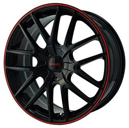 Touren TR60 3260 Wheel with Black Finish with Red Ring