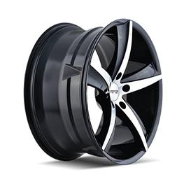 TR72  GLOSS BLACK/MACHINED FACE 17X7.5 5-114.3 40mm 72.62mm