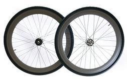 Track / Fixed Fixie Bike Deep 50mm Rim 700c Wheelset + Tires