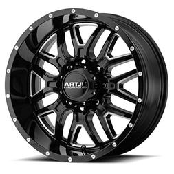 Ultra 203BM Hunter 20x9 6x139.7 -12mm Black/Milled Wheel Rim
