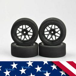 US 4Pcs Foam Tires&Wheels Rims 12mm Hex For HSP 1/10 on-Road