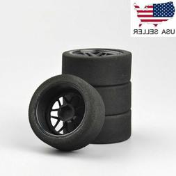 US 4Pcs Foam Tires & Wheels Rims 12mm Hex For HSP HPI 1/10 o