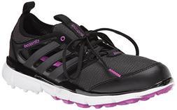 adidas Women's W Climacool II Golf Shoe, Core Black/Iron Met