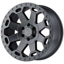 Black Rhino 1890WAR128180G25 WARLORD Grey Wheel