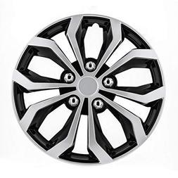 """Pilot Automotive WH553-17S-BS Black/Silver 17 inch 17"""" Spyde"""